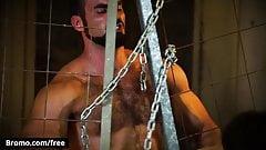 Buck Richards with Jaxton Wheeler at Bareback Inquisition