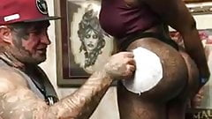 Big Ass Getting tatted