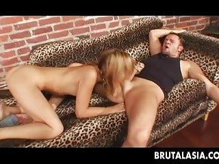 Seductive blonde bitch getting her ass fucked deep