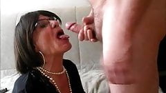 Cock sucking mature crossdresser