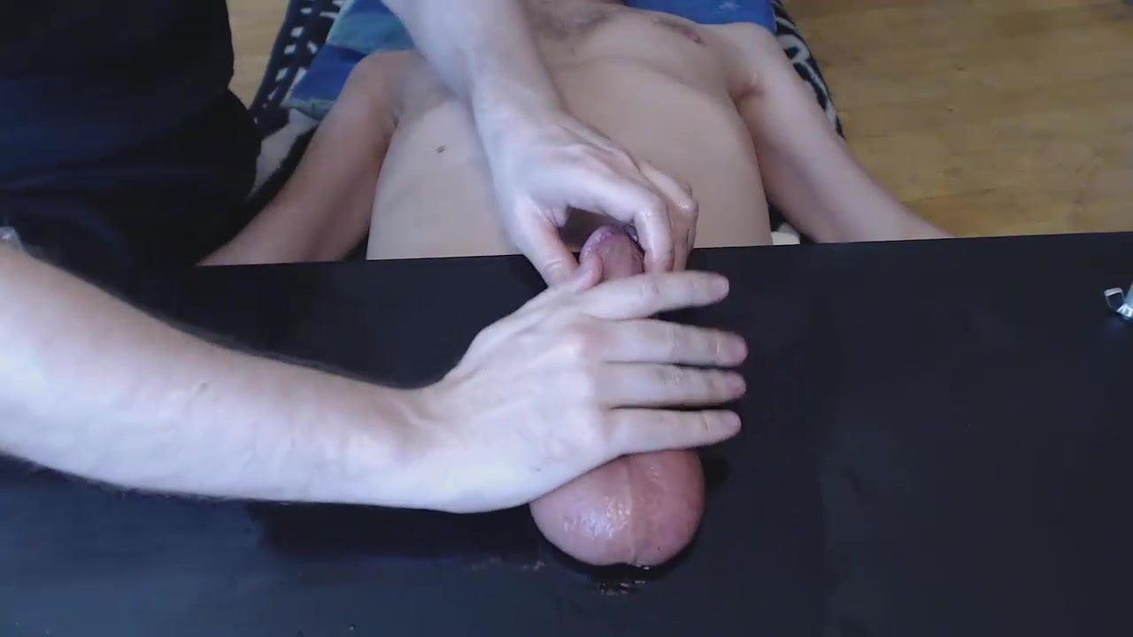 Milking my huge cock on the porch