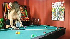 Black Stockings Susi Leckschlitten Fuck above a pool table