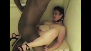 Kacey the white slave is a toy for her black master