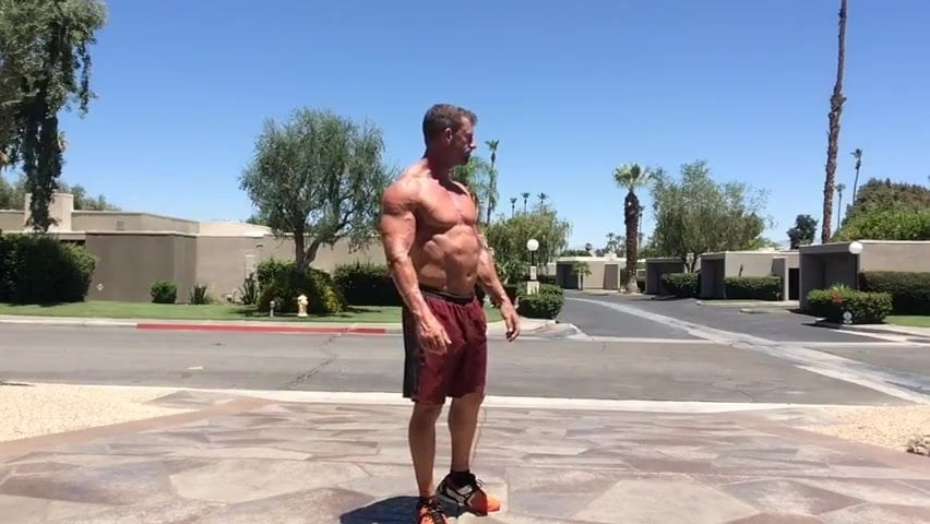 gay muscle porn clip: Str8 bodybuilder daddy street masturbation, on hotmusclefucker.com