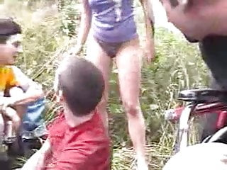 Pissing On A Guy At A Camp Out In Front Of A Crowd