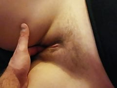 Amateur Mutual masterbation and handjob cum on wifes pussy