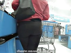 Slim Thick Spandex Ass Close Up Candid Booty