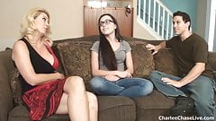 Hot wife Charlee Chase breaks in the teen babysitter