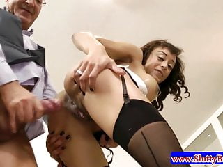 Black girl plays with an english dick