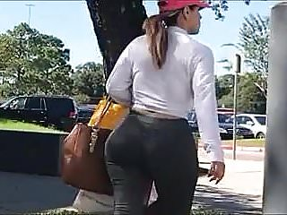 Perfect Jiggly Ass Latina Milf in Spandex (SUPER BUSTED)