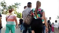 big ass in miniskirt