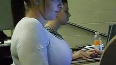 Huge Tits In College Classroom