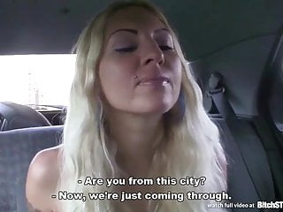 Bitch STOP - Blonde hooker picked up on Czech street