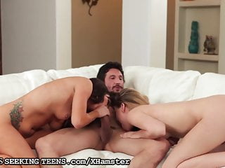 Wife Surprises Husband with Horny Teen