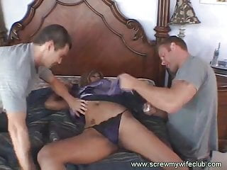Wife fucked with two hard dicks