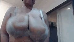 super tits jump and tits came out bra