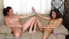 Selma and Alicia Silver dual girl XXX video