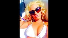 Melissa Hardbody Goes Nuts Tiny White String Bikini