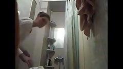 Unaware, roommate Ewa caught hidden cam, bathroomepic,