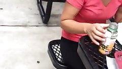 Gym black bulge milf watches
