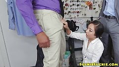 Asian seamstress assfucked by BBC in trio