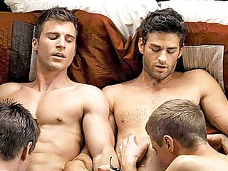 Aaron Milo nude ass and gay group sex scene