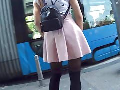 Cute Teen In Little Dress & Stockings Candid 25.04.'18.'s Thumb
