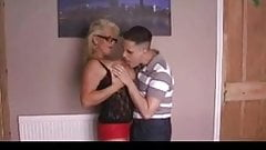 British mature fucked by young stud