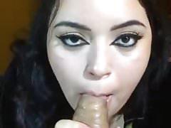Amateur fat blows a big dick
