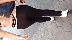 Fat Mexican in see thru leggings 4