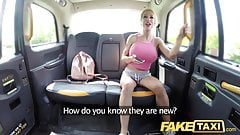 Fake Taxi Squirting busty blonde gives horny blowjob