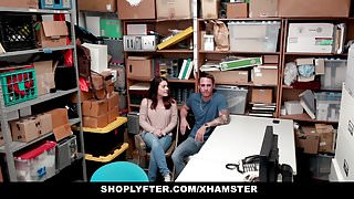 Shoplyfter - Stealing Teen Fucked Infront Of Boyfriend