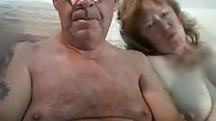 Man in 60s gets blown by wife on cam