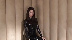 Lara in Black Latex