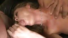 Hot blonde Milf gets gangbanged