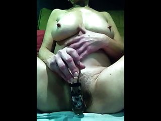 Mature with hairy pussy and large tits provokes via cam