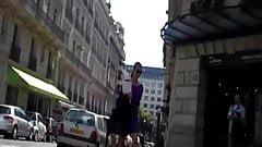 Paris Purple dress black heels