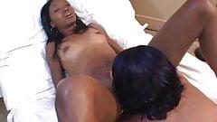 Spicy interracial lesbian porn video