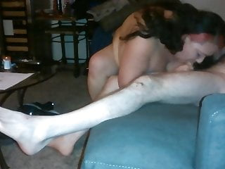 Dumb Whore Cunt sucks off a skinny white guy