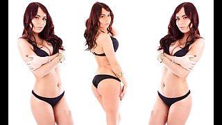 Rachel Nemi Haulin' Ass Black Thong Bikini
