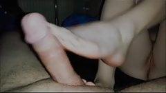 another footjob and cum