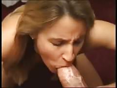 Mature woman sucks huge cock