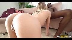 Sexy Blonde Loves Black Meat
