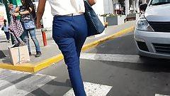 CALZA SOCIAL BLUE WALKING