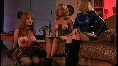 Big tits hottie disciplines her horny slave girl