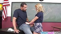 Elizabeth Bentley plays with her teachers dick