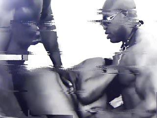two Black MUSCLE BULL FUCKING