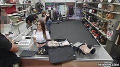 Fucking a hot stewardess in the pawn shop - XXX Pawn