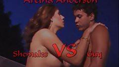 Shemale VS Guy ( Aretha Anderson )