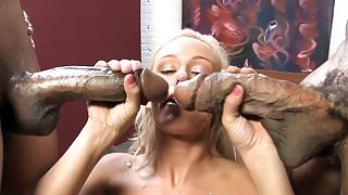 Molly Rae Interracial Threesome's Thumb